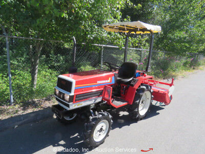 """Agricultural Farm Utility Tractor 53"""" Tiller 4WD 3Speed 16HP Diesel PTO 4X4"""