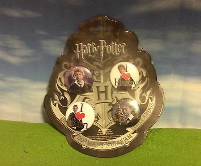 Harry Potter - Pin Button Badge Set X4 - Mint And Still Sealed On Original Card