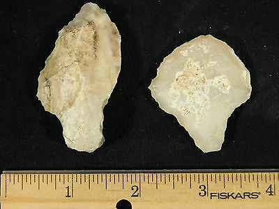 TWO Nice! 55,000 to 12,000 Year Old! Stemmed Aterian Lithic Artifacts! 41.8