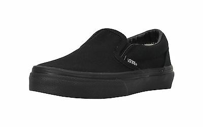 f340b41afe6 Vans Boys Girl All Black Classic Slip-On Shoes Kids Youth Canvas Fashion  Sneaker