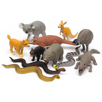 NEW Toy Wild Republic Nature Tube Australian Aussie Animal Assortment 15076 Set