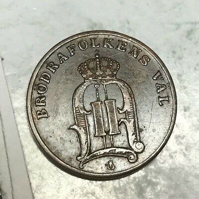 SWEDEN 1884 1 Ore coin excellent condition