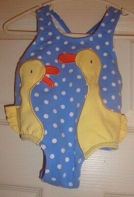 LE/TOP~girl's~ONE/Pc/POLKA/DOT/DUCKS/LINED/SWIMSUIT! (3/MO)BRAND/NEW! Free/Ship!