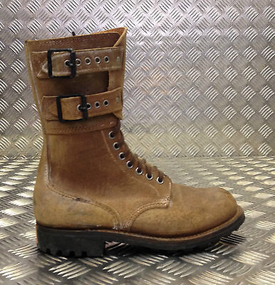 Genuine French Foreign Legion Brown Leather / Suede Army Boots Size 40 NEW FB017