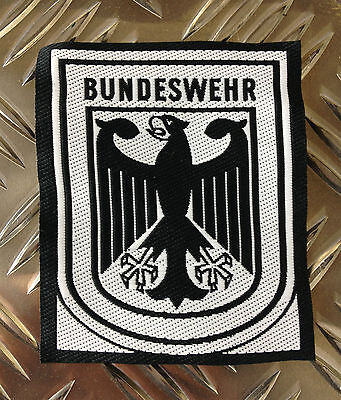 Genuine German Army Black and White BUNDESWEHR Patch / Badge x 50 - BRAND NEW
