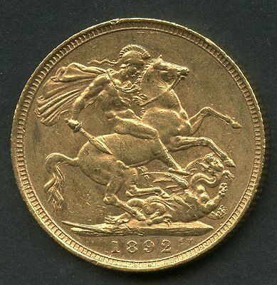 Great Britain 1899  Gold Sovereign Contains .2354 Ounces Of Pure Gold You Grade