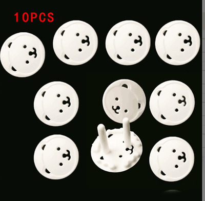 10Pcs Power Socket Outlet Point Plug Protective Covers Baby Child Safety EU Plug