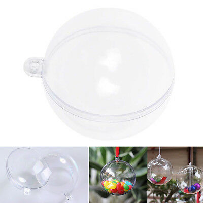 5pcs Plastic Hanging Ball Clear Baubles Xmas Party Home Christmas Ornament Gift