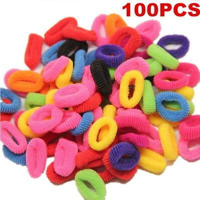 100Pcs Elastic Rope Ring Hairband Fashion Women Girls Hair Band Ponytail Holders