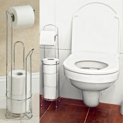 4 Roll Bathroom Paper Rack Holder Standing Tissue Toilet Paper Holders-Mounted