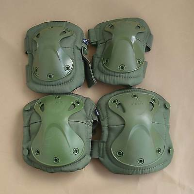 Olive Green XTAKK Tactical Knee&Elbow Protective Pads Set For Paintball Airsoft