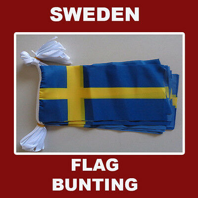 Sweden Flag Bunting 20 Polyester Swedish Flags AUSPOST REGISTERED TRACKING