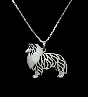 Rough Collie  Lassie 3D pendant necklace dog collectible No.75