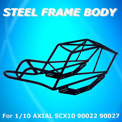 1/10 Steel Frame Body Roll Cage Full Metal Black For AXIAL SCX10 90022 90027