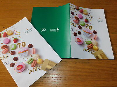 lot 2 MENU 70 YEARS Singapore Airlines LUNCH Breakfast AIRCRAFT Economy class