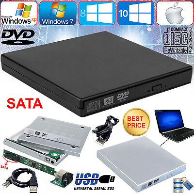 SATA to USB 2.0 External Enclosure Cover Caddy Case Laptop CD DVD Rom RW Combo,