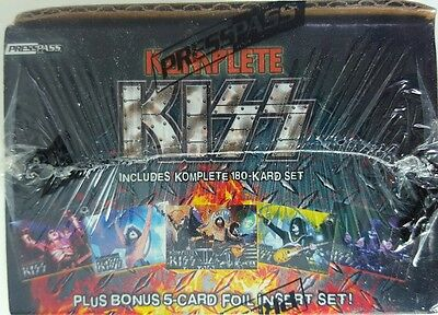 KISS KOMPLETE Sealed Box TRADING CARD SET  X 2 IKONS / 360 DEGREES  +  FOIL CARD