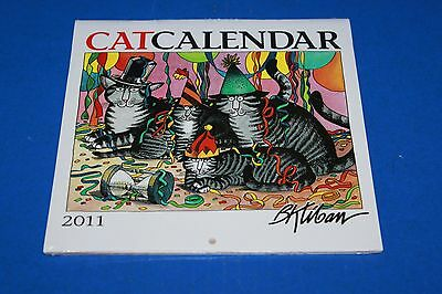 2011 B Kliban Mini Cat Wall Calendar NIP