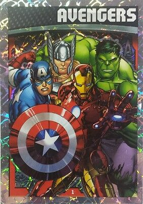 MARVEL HERO ATTAX Series 4  HOLOGRAPHIC FOIL Card Set of 16 ( 2015 ) 1-16