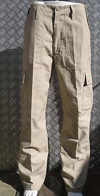 """Beige Military Style Combat Cargo / Utility / Field Trousers Size 24""""-28"""" - NEW"""