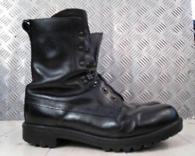 Genuine British Army Black Leather Vintage Combat / Assault Boots - All Sizes