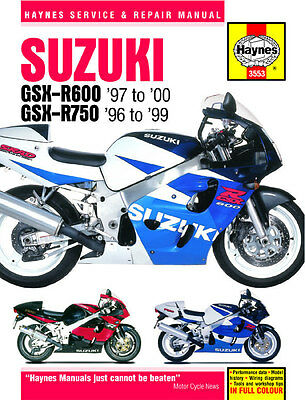 Suzuki GSX-R600 & GSX-R750 1996-2000 Haynes Manual 3553 NEW