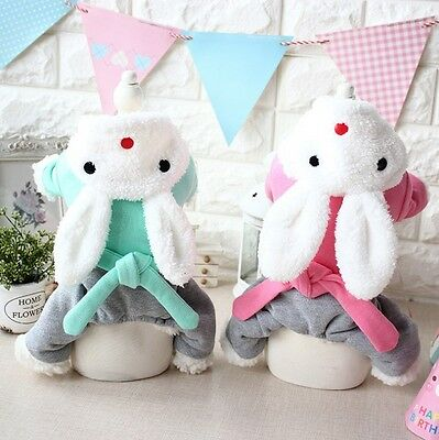 Pet Dog or Cat Easter Bunny Rabbit w/ Trousers Fancy Dress Costume Outfit XS-XL