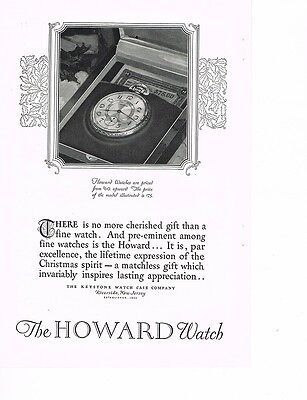 HOWARD WATCH 'No More Cherished Gift' 1926 Ad