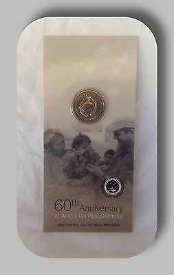 2007 $1- uncirculated coin 60th anniversary of Australian Peacekeeping