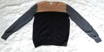 Old Navy Kids Youth Large Color Block Sweater Black Brown Gray Unisex