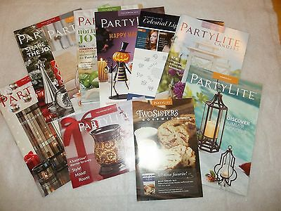 Lot Assortment of 10 PartyLite Catalogs/ Booklets, Great Resource, New