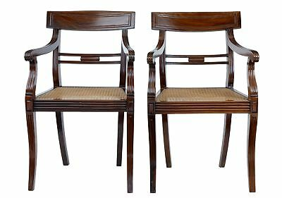 Near Pair Of Chinese Export Huanghuali Cane Armchairs