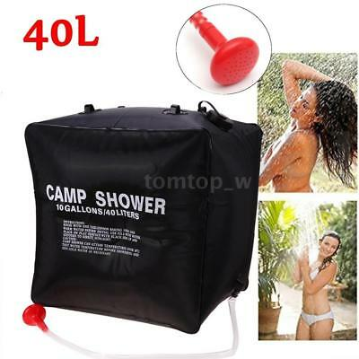40L 10 Gallon Camping Hiking Solar Heated Camp Shower Bag Shower Water Bag M5X3