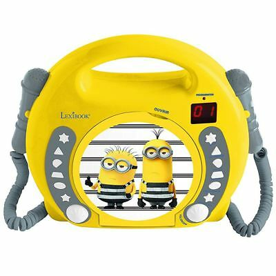 Despicable Me Minions Cd Player With Microphones & Handle Kids Boys Girls