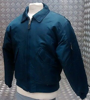 MA2 CWU US Military Style Bomber Jacket MOD/Scooter/Bikers Blue - All Sizes NEW