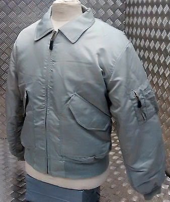 MA2 CWU US Military Style Bomber Jacket MOD/Scooter/Bikers Silver/Grey  - NEW