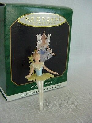 Hallmark Miniature ORNAMENT 1997 Snowflake BALLET #1 Series Ballerina dancer wbx