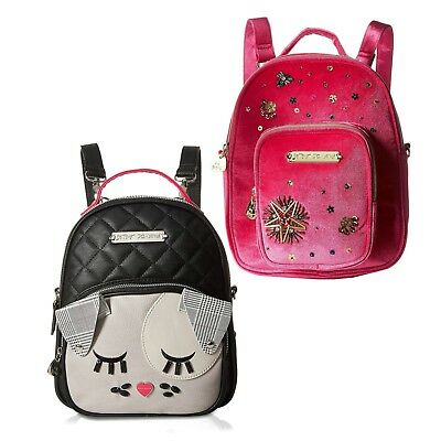clearance promotion latest BETSEY JOHNSON MINI Small Convertible Travel Backpack Purse Bookbag Tote Bag
