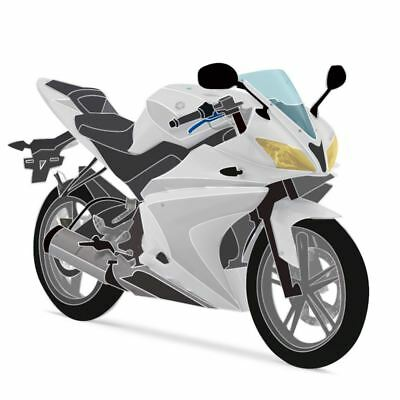 Unpainted Full 21 Piece Fairing Panel Kit for Yamaha YZF-R125 14-16