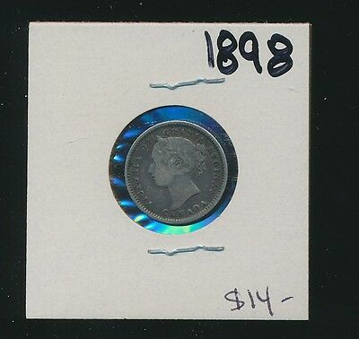 Canada - Silver - 10 Cents - 1898 - Nice Circulated