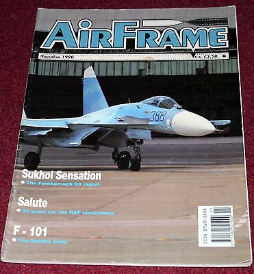 Airframe 1990 November F-101 Voodoo,AAC Scout,Wessex,Lightning