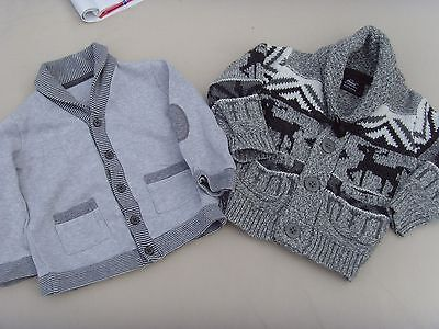 Baby Boy x2 Cardigans/Jackets - size 12-18 months