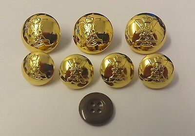 Genuine British Army Issue Royal Regiment of Scotland RRS Doublet Button Set