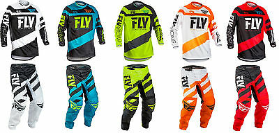 New 2018 Fly Kinetic F-16 Motocross Dirtbike Gear Combo All Colors All Sizes