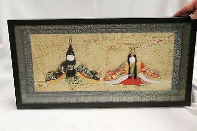Japanese Couple in Meditation 3D Relief Art Wooden Frame
