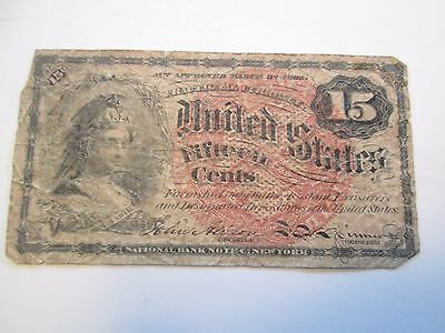 15 Cent Fractional Currency Act of March 1863 National Bank of New York