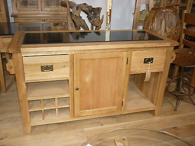 VANCOUVER PREMIUM SOLID Oak & Granite Kitchen Island Vxd006 Very ...