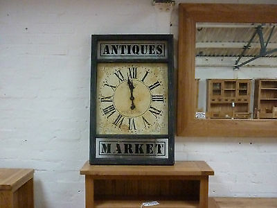Large Vintage Looking Antiques Market Wall Clock 102Cm In Length Stunning