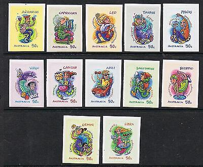 W@W STAMPS  AUSTRALIA  2007 Signs of The Zodiac -12 Booklet Stamps MNH lot 1118a