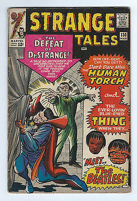 "Strange Tales   #130      GD      (2.0)      1965       ""Beatles Appearance"""